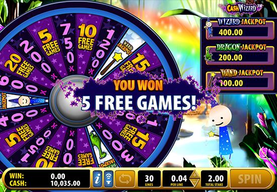 cash wizard free slots
